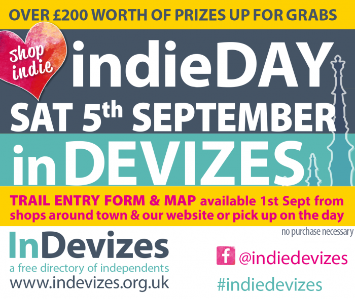 Devizes indieDAY notice - Satuday 5th September