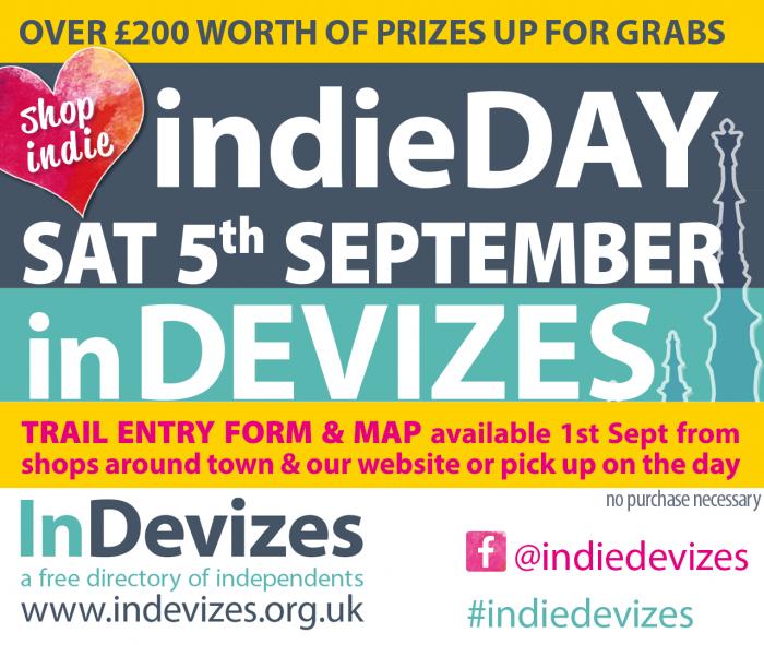 Devizes indieDAY notice - Satuday 5th September