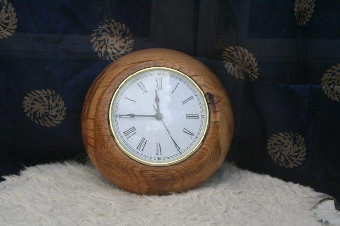 Wooden surround clock