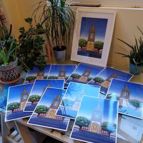 Becky Hanney - Devizes Market Cross prints