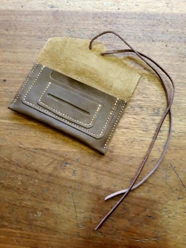 Small leather shoulder bag