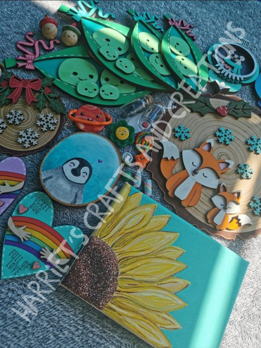 harriets crafts & creations ~ selection of wares