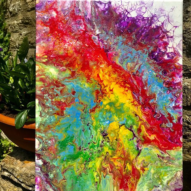 loz fluidart - multi-coloured artwork