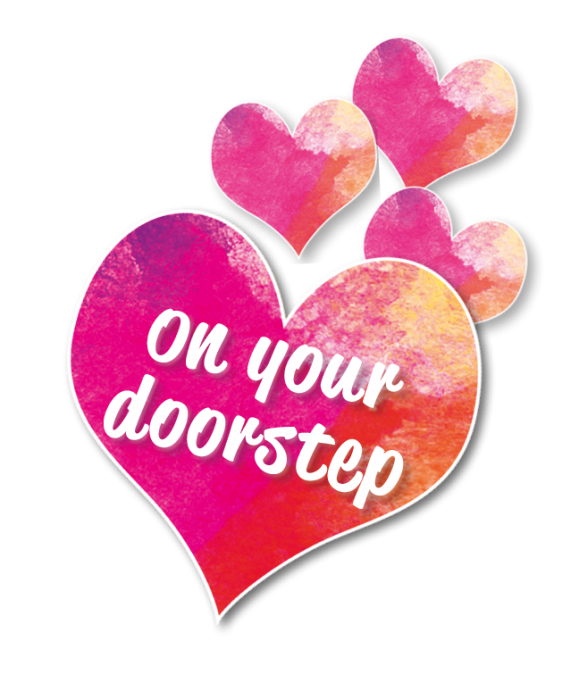 On your doorstep - hearts